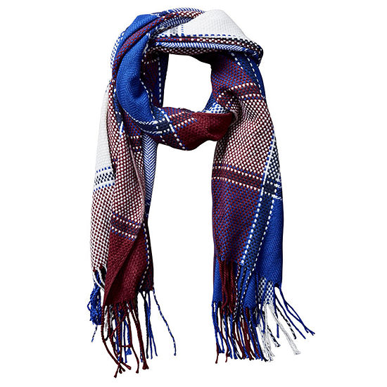 Design Imports Plaid Cold Weather Scarf