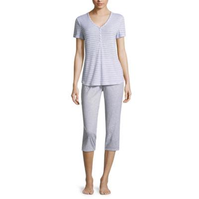 Liz Claiborne Henley Capri Pajama Set