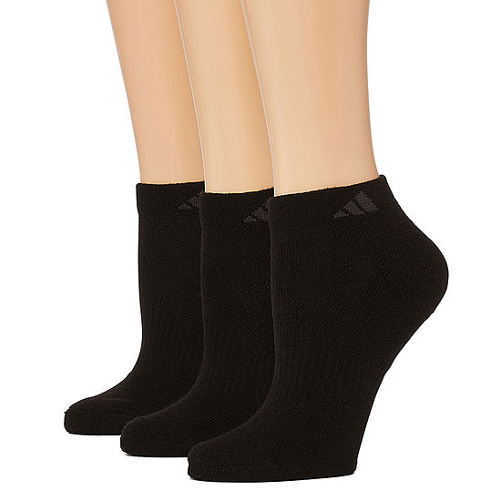 Adidas 3 Pack Cushion Low-Cut Socks - Womens