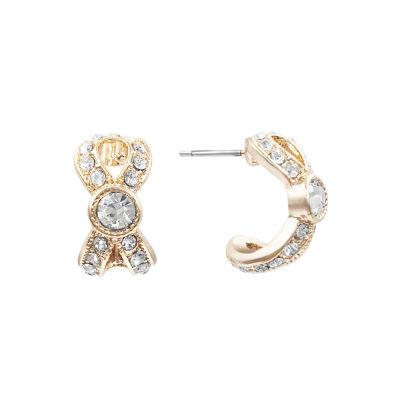 Monet Jewelry White 17.8mm Hoop Earrings