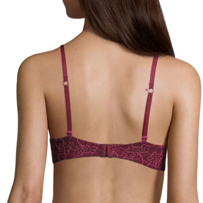 Flirtitude® My Fave Tee Bra w/ Embriodered Mesh