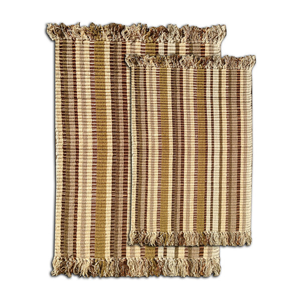 Silk Ribbed 2-pc. Rectangular Accent Rug Set