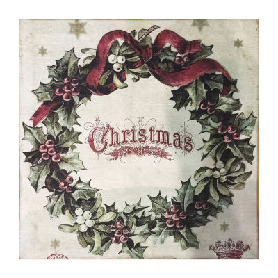 Vintage Christmas Square Accent Rug