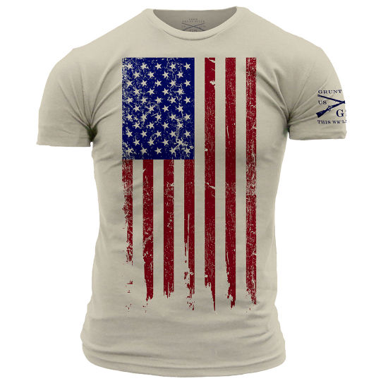 Grunt Style Full Color Flag Graphic T-Shirt