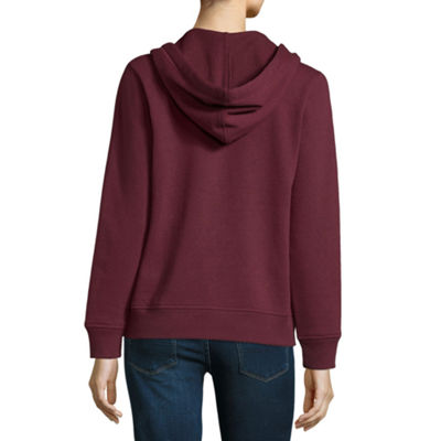 Us Polo Assn. Womens Long Sleeve Fleece Hoodie-Juniors