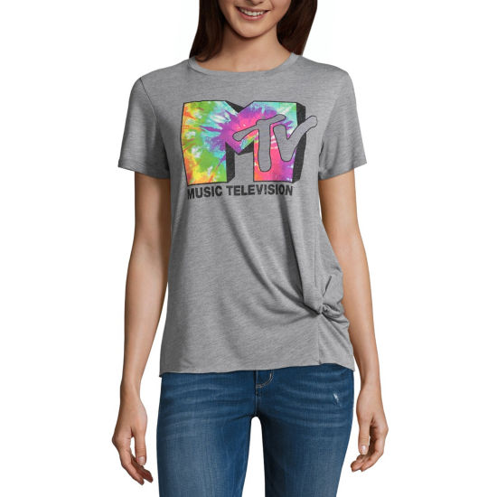 MTV Short Sleeve Knot Tee - Juniors