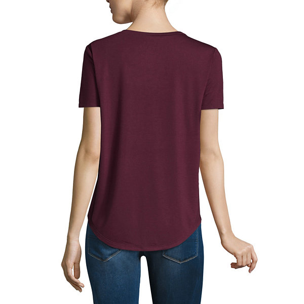 V Neck Criss Cross Tee - Juniors