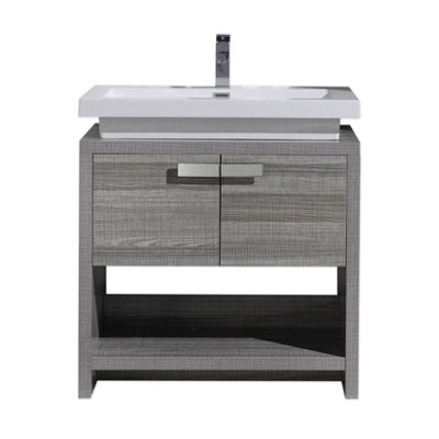 "Moreno Bath Levi 32"" Free Standing Modern BathroomVanity with Cubby Hole and Acrylic Sink"""