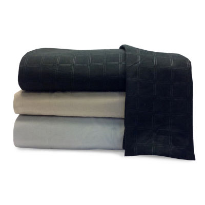 Embossed Microfiber Easy Care Wrinkle Resistant Sheet Set