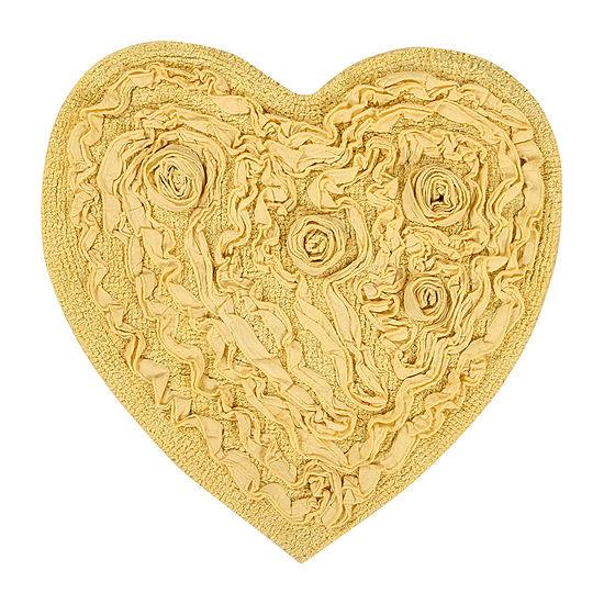 Bellflower Heart Bath Mat