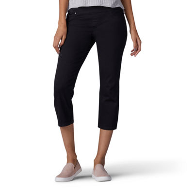 Lee Pull On Denim Capri Capris-Petite