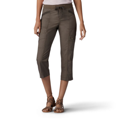 Lee Relaxed Pull On Adjustable Waist Capri-Petite