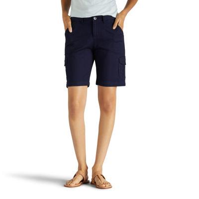 "Lee Relaxed Bermuda 7 1/4"" Relaxed Fit Poplin Bermuda Shorts-Petites"