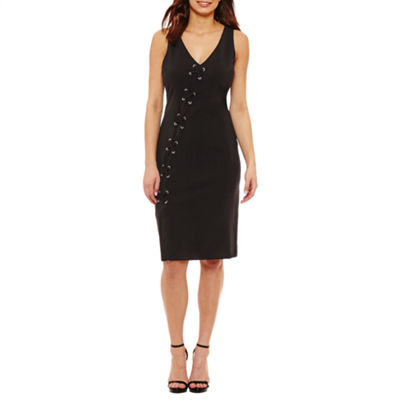 Bold Elements Sexy Stretch Silhouette Lace Up Dress