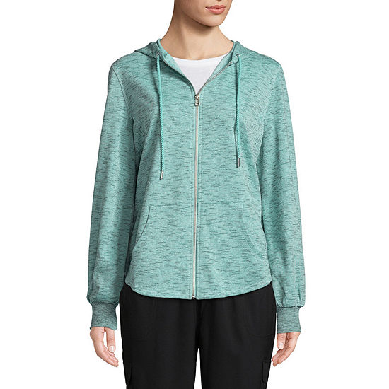 St. John's Bay Active Womens Long Sleeve Knit Hoodie
