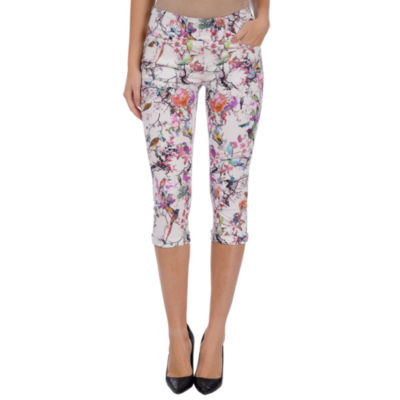 Lola Jeans Mid-rise Pull On Capris - Plus