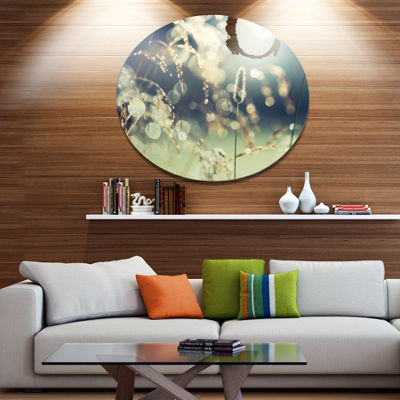 Designart Sunny Meadow with Wild Flowers Large Flower Metal Circle Wall Art