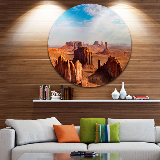 Designart Monument Valley Aerial Sky View Landscape Print Wall Artwork