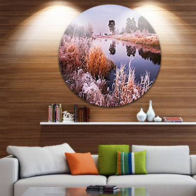 Designart Fairy Autumn Dawn Panorama Landscape Print Wall Artwork
