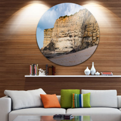 Designart Portuguese Atlantic Coast Panorama Landscape Print Wall Artwork