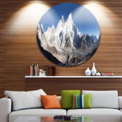 Designart Mount Everest Glacier Panorama LandscapePrint Wall Artwork