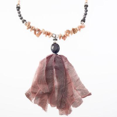 Bijoux Bar Womens Gray Beaded Necklace