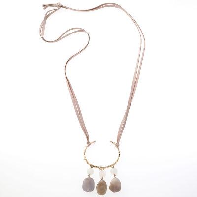 Natasha Accessories Multi Color Beaded Necklace