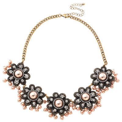 Bijoux Bar Womens Clear Collar Necklace