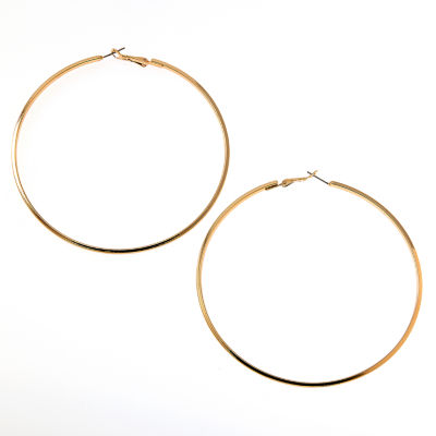 Bijoux Bar 3 1/2 Inch Hoop Earrings