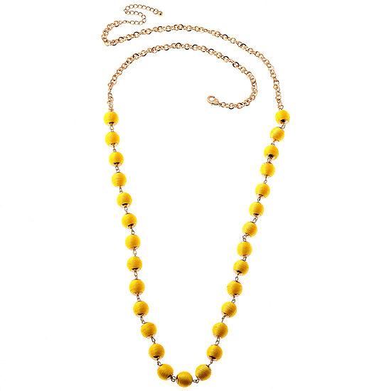 Bijoux Bar 21 Inch Solid Link Chain Necklace