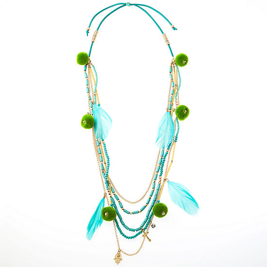 Bijoux Bar Link Beaded Necklace