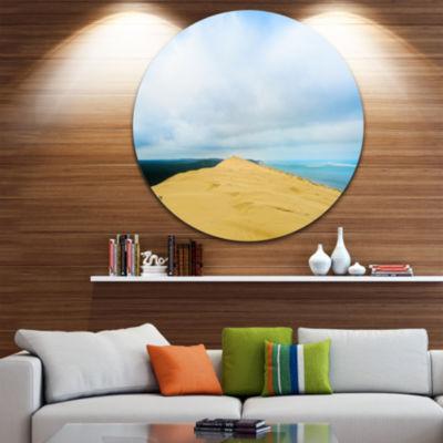 Designart Cala Violina Bay Beach Tuscany OversizedLandscape Wall Art Print