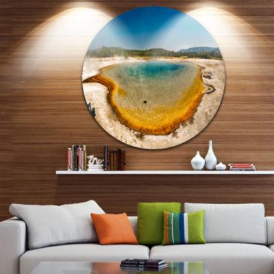 Designart Yellowstone Heat Pool Panorama LandscapePrint Wall Artwork