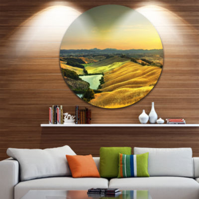 Designart Rural Landscape Italy Panorama OversizedLandscape Wall Art Print