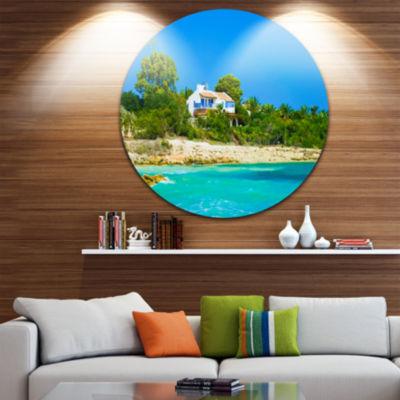 Designart House on the Island of Cyprus OversizedLandscape Wall Art Print
