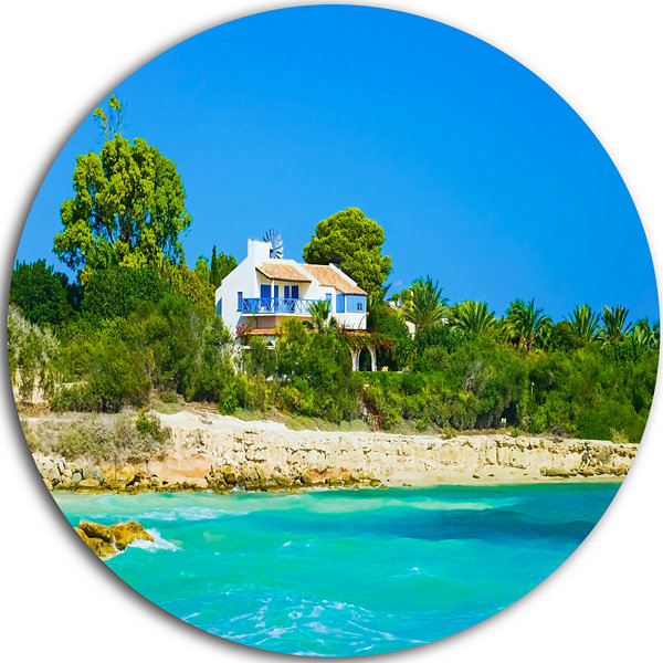Design Art House on the Island of Cyprus OversizedLandscape Wall Art Print