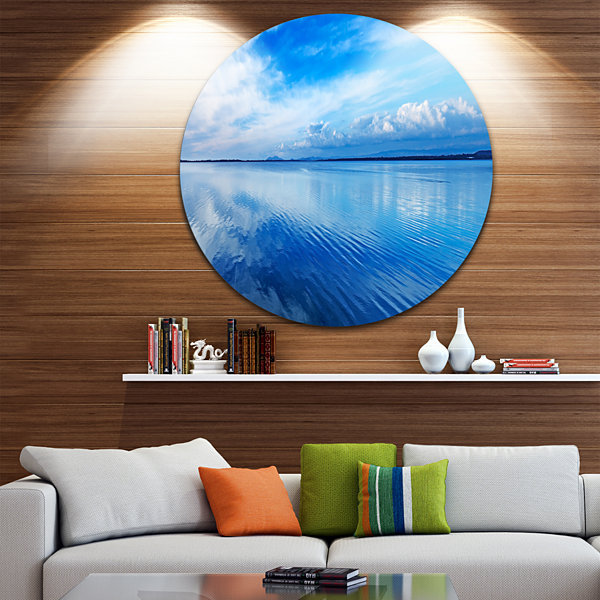 Designart Sunset Blue Panoramic Landscape Oversized Landscape Wall Art Print