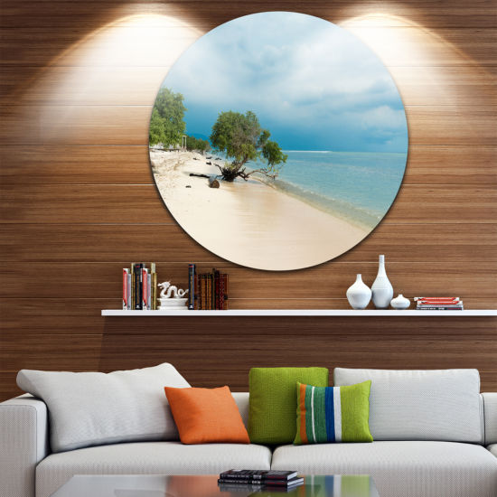 Designart Beautiful Coastline in Indonesia Seascape Metal Artwork