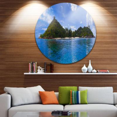 Designart Tropical Island at Seychelles PanoramaSeascape Metal Artwork