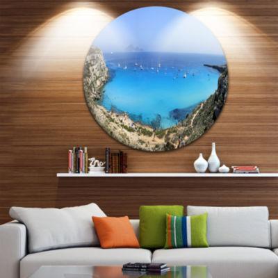 Designart Cala Rossa Beach Sicily Italy SeascapeMetal Artwork