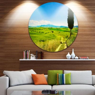 Designart Rural Landscape Countryside Farm Oversized Landscape Wall Art Print