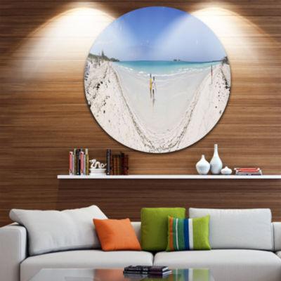 Designart Cayo Coco Tropical Beach Panorama Seascape Metal Artwork