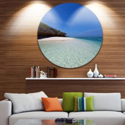 Designart Gorgeous Blue Beach during summer Seascape Metal Artwork
