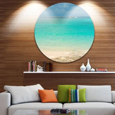 Designart Tropical Andaman Sea with Blue Sky Seascape Metal Artwork