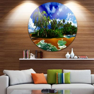 Designart Paradise Beach in Hawaii Island SeascapeMetal Artwork