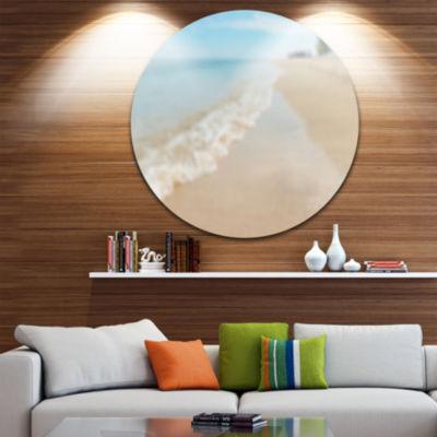 Designart Tropical Island Beach Waves Seascape Metal Artwork