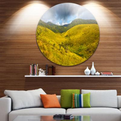 Designart Green Everywhere Horton Plains LandscapeMetal Circle Wall Art