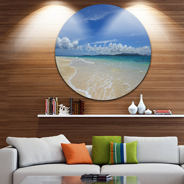 Designart Gorgeous Beach in summertime Seascape Metal Artwork