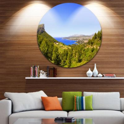 Designart Cassis Bay from Route des Cretes Oversized Landscape Wall Art Print