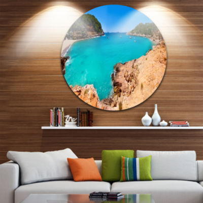 Designart Saladeta Ibiza in San Antonio SeascapeMetal Artwork